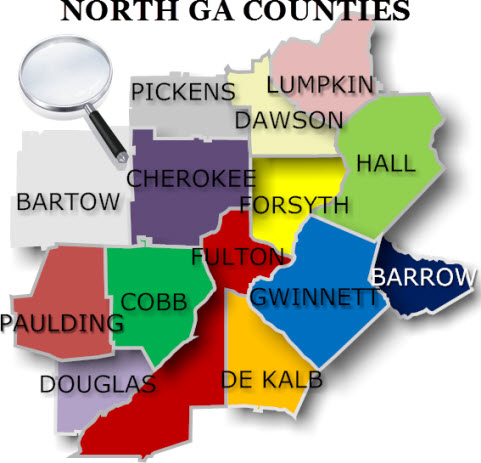 Georgia Counties search homes for sale - Altanta North Metro